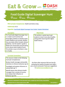 The Food Guide Digital Scavenger Hunt image