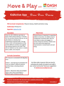Active For Life KidsActive App image