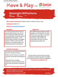 Meaningful #HPEatHome image