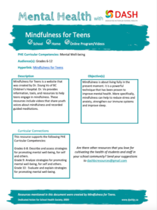 Mindfulness For Teens image