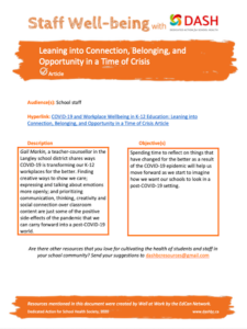Leaning into Connection, Belonging and Opportunity image