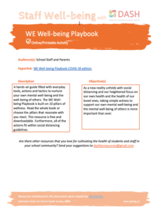 WE Well-Being Playbook image