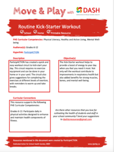 Routine Kick-Starter Workout image