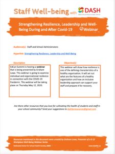 Webinar: Strengthening Resilience, Leadership and Well-Being During and After Covid-19 image