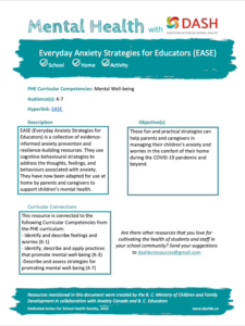Everyday Anxiety Strategies for Educators (EASE) image