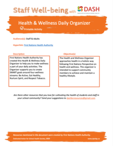 Health and Wellness Daily Organizer image