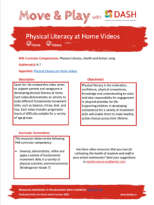 Physical Literacy at Home Videos image