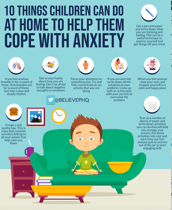 10 Things Children Can Do at Home To Help Them Cope with Anxiety image