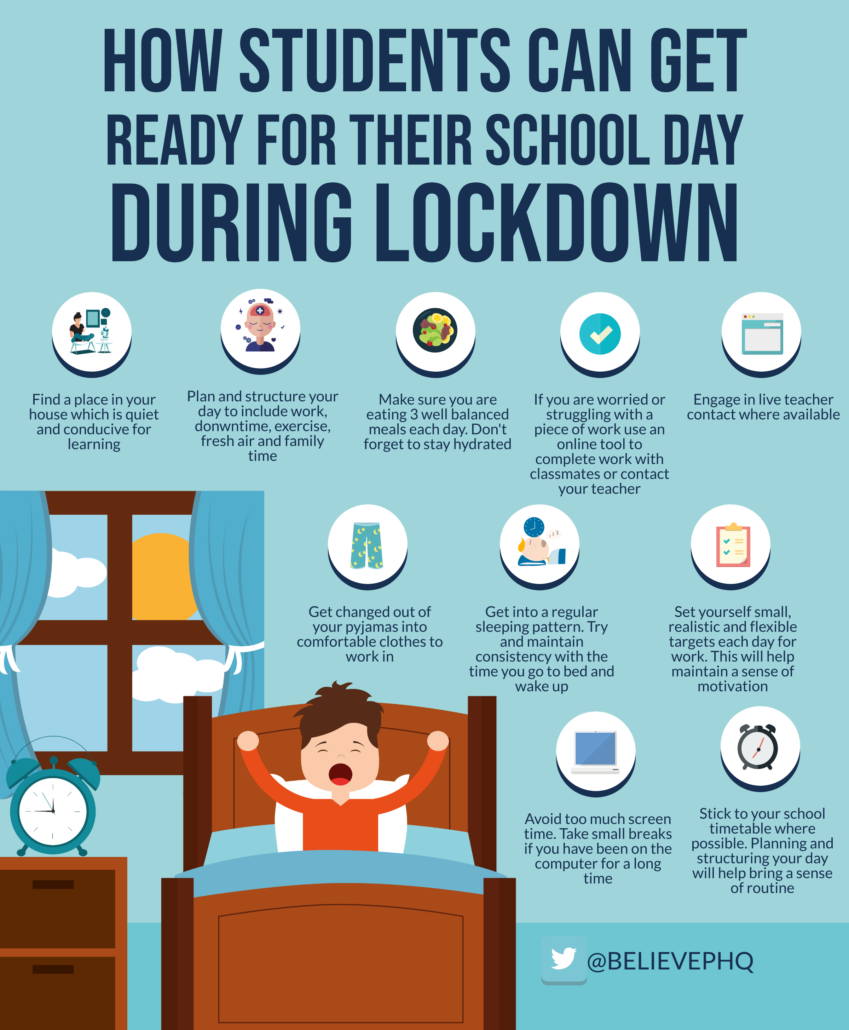How Students Can Get Ready for Their School Day During Lockdown image