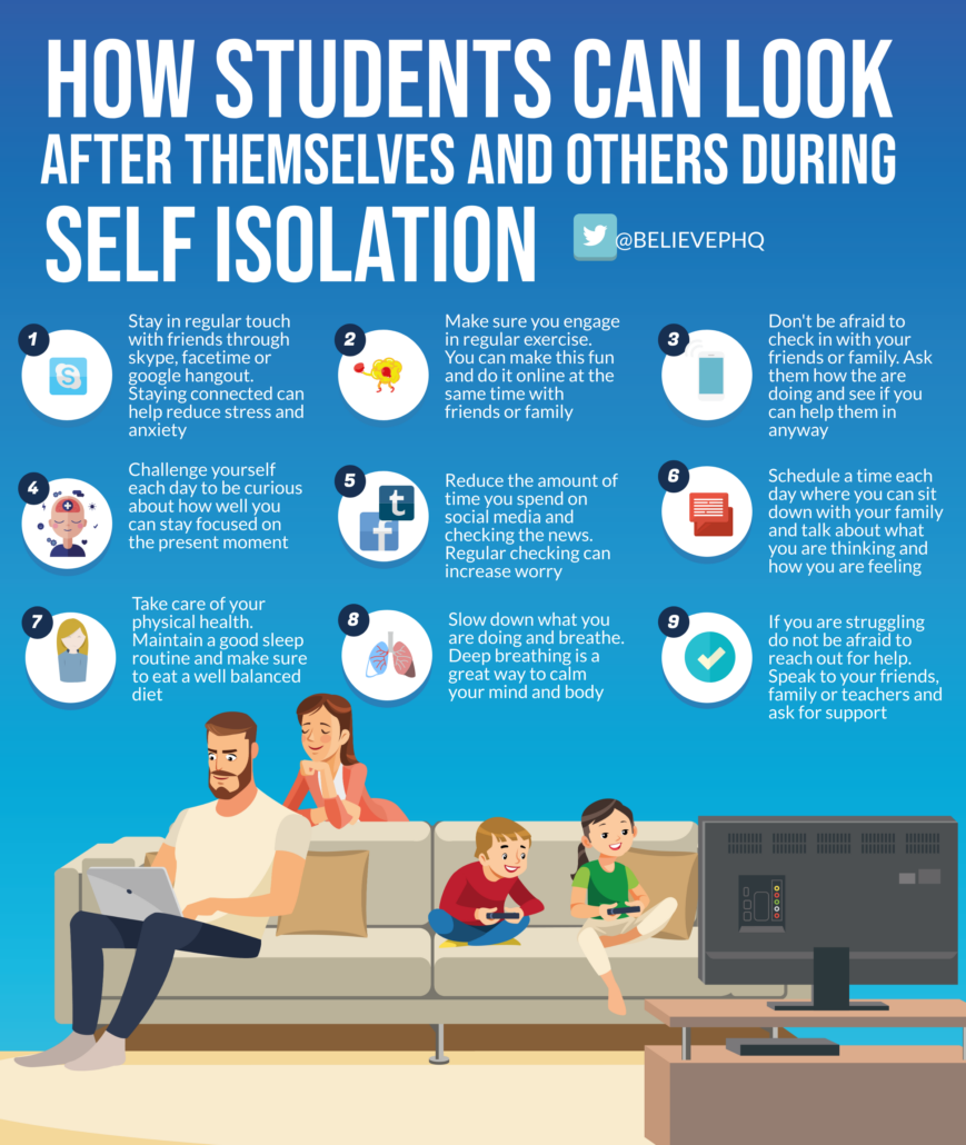How Students Can Look After Themselves and Others During Self Isolation image