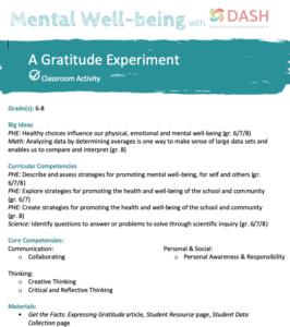 A Classroom Gratitude Experiment image