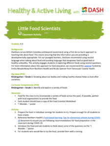 Little Food Scientists image